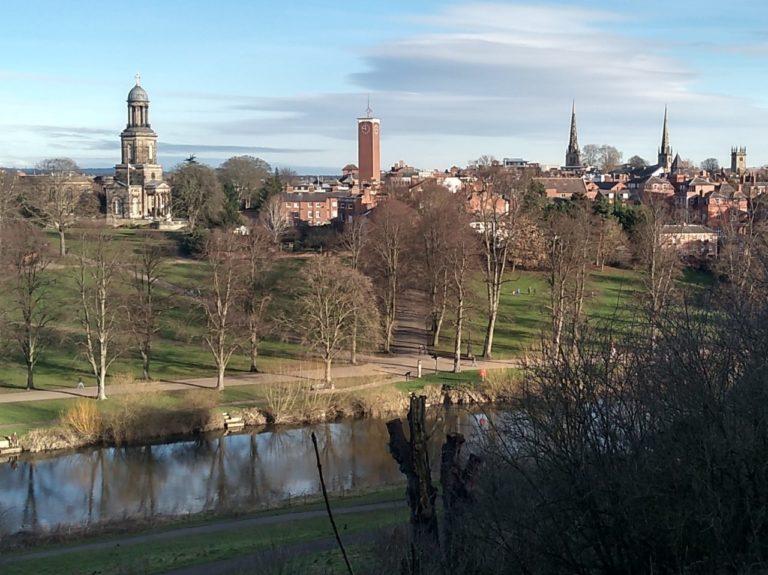 View over Shrewsbury